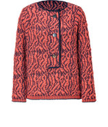 Coral and Navy Raglan Sleeve Sweater