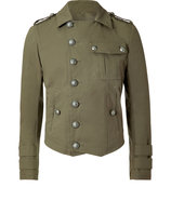 Khaki Cotton Military Jacket