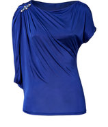 Cobalt Blue Draped Sleeve Top