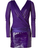 Violet Scoop Back Dress with Eelskin Skirt