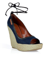 Indigo Canvas Wedges