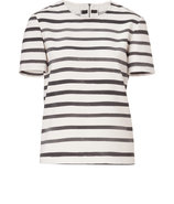 Ivory/Grey Striped Top