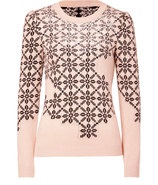 Beige/Black Sequined Pullover