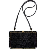 Black Persian Lamb Shoulder Bag