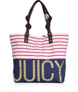 Multi Sailor Girl Canvas Juicy Tote