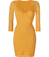 Sunshine V-Neck Pointelle Dress