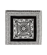 Black/White Patterned Silk Pocket Square