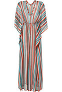 Aquamarine/Sunset Stripe Maxi Caftan