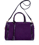 Purple Suede and Python Marilyn Bag