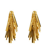 Gold Tinsel Earrings