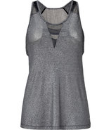 Silver-Black Tank Top