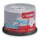 Imation 16x 4.7GB DVD+R Media (50-Pack,