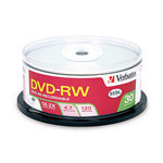 Verbatim 2X 4.7GB Branded DVD-RW Media (30-pack
