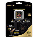 PNY 4GB SDHC Flash Memory Card, Class 4 P-SDHC4G4-